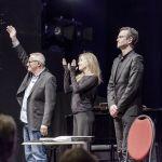 """Konstantin Wecker """"Poesie und Musik mit Cello und Klavier. 03.03.2018. Alte Oper (Erfurt). Fotografien: Johannes Piehler. Im Bild: Konstantin Wecker, Fany Kammerlander - Cello & Gesang"""